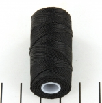 c-lon fine weight bead cord 0.4mm - black