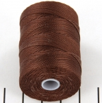 c-lon fine weight bead cord 0.4mm - brown