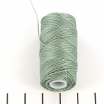 c-lon fine weight bead cord 0.4mm - celadon
