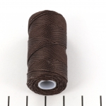 c-lon fine weight bead cord 0.4mm - chocolate