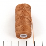 c-lon fine weight bead cord 0.4mm - nutmeg