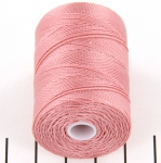 c-lon fine weight bead cord 0.4mm - rose