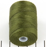 c-lon bead cord 0.5mm - green olive