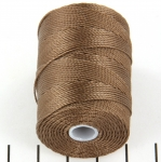 c-lon bead cord 0.5mm - medium brown