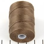 c-lon bead cord 0.5mm - sepia