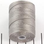 c-lon bead cord 0.5mm - silver