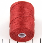 c-lon bead cord 0.5mm - ventian red