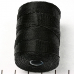 c-lon bead cord 0.5mm - zwart