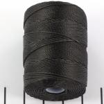 c-lon bead cord 0.5mm - houtskool grijs