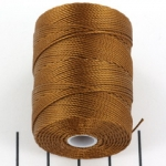 c-lon bead cord 0.5mm - chestnut