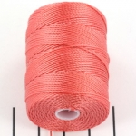 c-lon bead cord - chinese coral