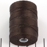 c-lon bead cord 0.5mm - chocolate