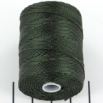c-lon bead cord 0.5mm - forest green