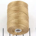 c-lon bead cord 0.5mm - latte