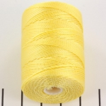 c-lon bead cord 0.5mm - lemon