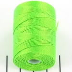 c-lon bead cord 0.5mm - neon green