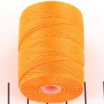 c-lon bead cord 0.5mm - neon orange