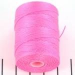 c-lon bead cord 0.5mm - neon pink