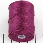 c-lon bead cord 0.5mm - raspberry