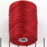 c-lon bead cord 0.5mm - red hot