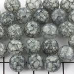 acrylic crackle 12 mm - grey black