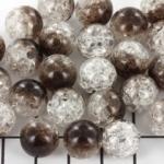 acrylic crackle 12 mm - black & transparent