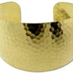 cuff armband metaal - geribbeld 35 mm