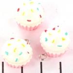 cupcake - roze met wit