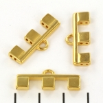 cymbal connector Piperi III for Tila - 24kt gold plated