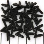 ava bead - jet zwart