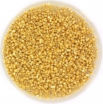 charlotte rocailles 15/0 - crystal 24k gold plated