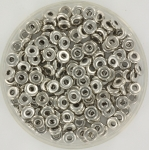 O bead 2x4 mm - crystal argentic full