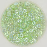 O bead 2x4 mm - peridot ab