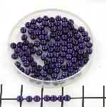 glass pearl 3 mm - purple