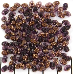superduo 2.5x5 mm - amethyst semi bronze luster