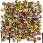 superduo 2.5 x 5 mm - crystal magic red yellow
