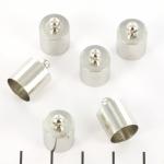 eindkap rond plat dun 10 mm - zilver