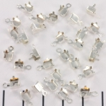 fold over end for strass chain - 4.5 mm silver