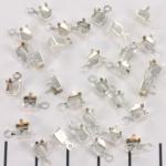 eindkap voor strass schakelketting - 4.5 mm lichtzilver