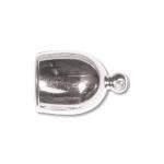 eindkap rond  8 mm - lichtzilver