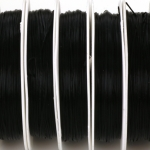 flat nylon elastic - black 1 mm