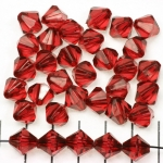 acrylic faceted conical 10 mm - dark red
