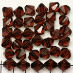 acrylic faceted conical 10 mm - dark brown