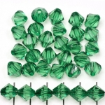 acrylic faceted conical 10 mm - dark green