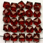 acrylic faceted cube - red