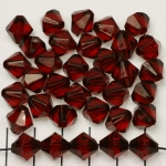 acrylic faceted conical 10 mm - dark red garnet brown