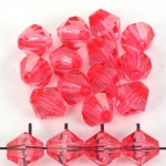 acrylic faceted conical 10 mm - koral dark pink