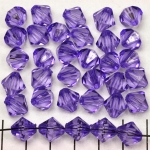 acrylic faceted conical 10 mm - lilac purple