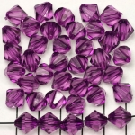 acrylic faceted conical 10 mm - purple