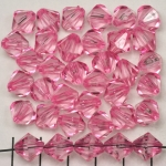 acrylic faceted conical 10 mm - pink